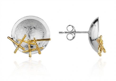 Jill Graham Jewellery - Sterling Silver & Gold Kathleen Stud Earrings